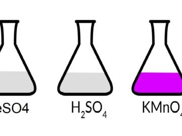 FeSO4 + KMnO4 + H2SO4